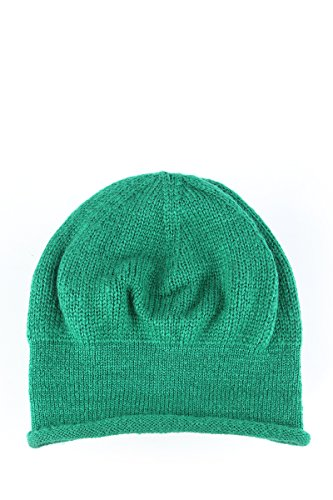 MeshMe Womens Green Slouchy Knit Skull Cap Beanie (Skully And Green Demon)