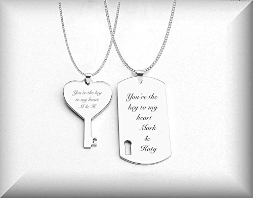 cec2fe96df Personalized Stainless Dog Tag & Key Necklace Set - Buy Online in Oman. | Office  Products Products in Oman - See Prices, Reviews and Free Delivery in Muscat  ...