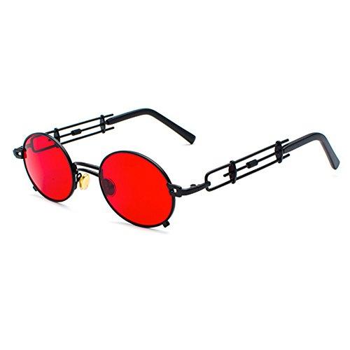 Juleya Vintage gótico Steampunk gafas de sol para hombres mujeres  protección UV marco de metal redondo 6e7731ec5949