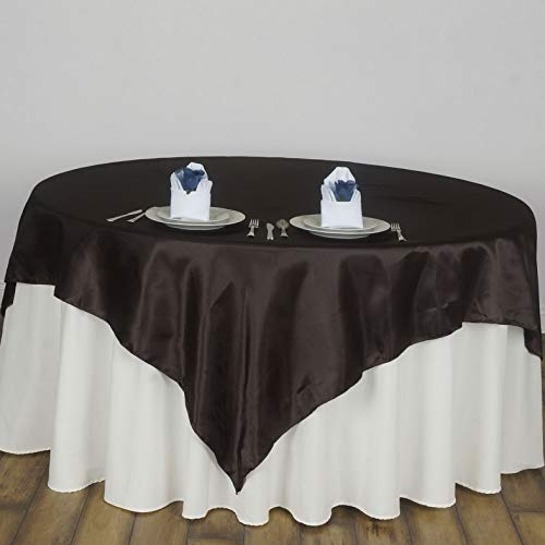 Mikash 90x90 Square Satin Table Overlay Wedding Party Reception Buffet Decorations | Model WDDNGDCRTN - 16611 |