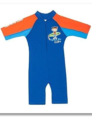 YouzhiWan007 novelty-swimwear Sunway Little Boys' Swimsuit Short Sleeves Overall (UPF 50+)