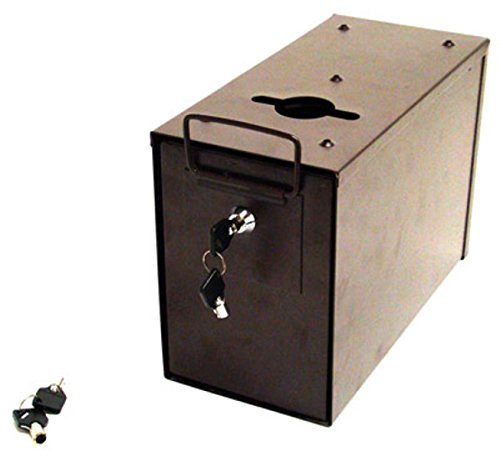 Heavy Duty Slim Line Metal Toke & Lock Box for Casino Tables - Includes Bonus Bill Slot! by Poker Supplies