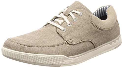 sand Derbys Homme Lace Clarks Isle Beige Canvas Step wOafYt