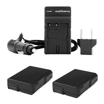 Amazon.com: 2 Batería de repuesto para Nikon EN-EL14 + 1 AC ...