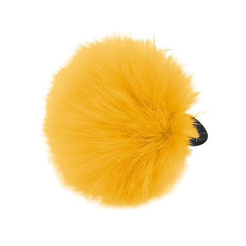 medius-fashion-feather-ball-shape-ponytail-holder-hair-band-tie-headband-hair-rope-yellow