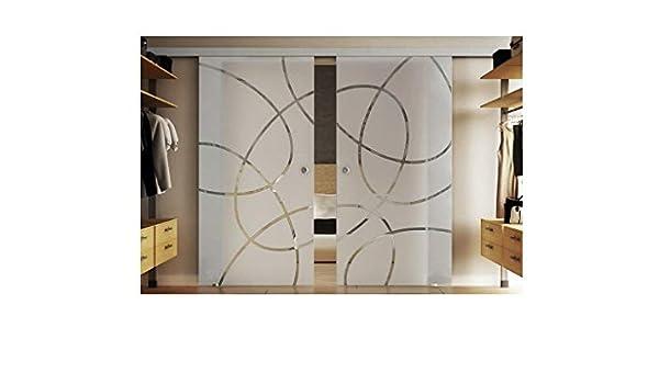 Puertas correderas de cristal en el interior de 2 x 77,5 x 205 cm ...