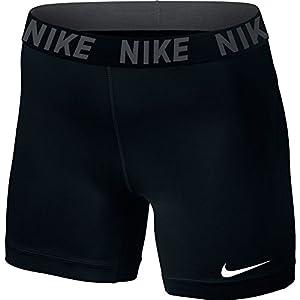 """Women's Nike Victory Base Layer 5"""" Training Shorts,Black/Black/White,Large"""