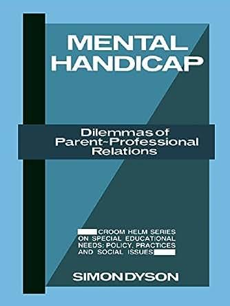 Amazon.com: Mental Handicap: Dilemmas of Parent ...
