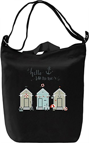 Hello summer Borsa Giornaliera Canvas Canvas Day Bag| 100% Premium Cotton Canvas| DTG Printing|