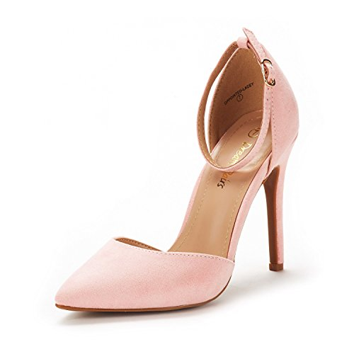 - DREAM PAIRS Women's Oppointed-Lacey Pink Fashion Dress High Heel Pointed Toe Wedding Pumps Shoes Size 9 M US
