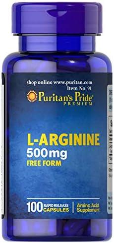 Puritan s Pride L-Arginine 500 mg-100 Capsules