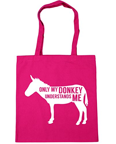 42cm Beach Shopping Fuchsia HippoWarehouse my donkey me Tote x38cm 10 Bag Only litres Gym understands qvYwp8