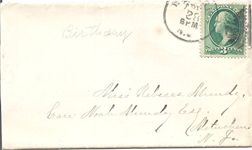 (1880's Postal Cover With Letter And 3 Cent US Postage Stamp Scott # 207)
