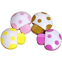 1 Pcs Cute Mushroom Contact Lenses Box Cases/Holders, Random Color