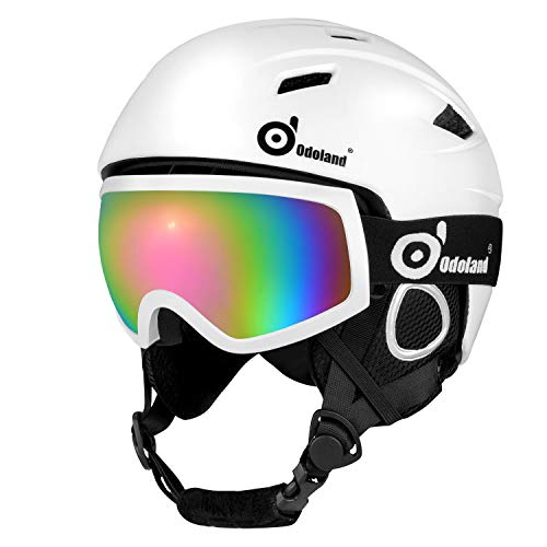 Set with Ski Goggles, Unisex Snow Sports Helmet & Goggles for Men & Women, Protective Helmet & Goggles for Skiing Skating Snowboarding & More Winter Outdoor Sports ()