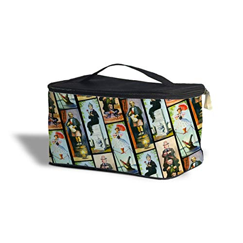 (Queen of Cases Haunted Mansion Stretch Paintings Cosmetics Storage Case - One Size Cosmetics Storage Case - Makeup Zipped Travel)