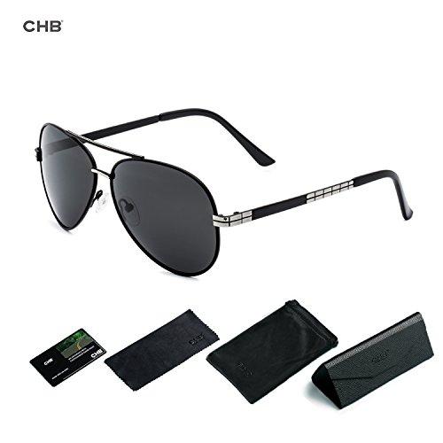 CHB Men Sunglasses Unbreakable Frame Sports Military Metal Polarized - Glasses Military Sun