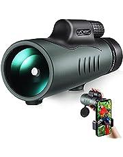 K&F Concept Monocular Telescope waterdichte 12x50 HD mobiele telefoontelescoop met telefoonclip