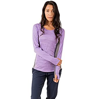 RBX Active Women's Midweight Long Sleeve Fitted Baselayer Crew Neck Shirt