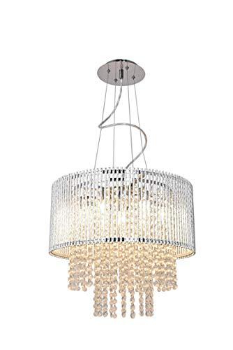 3 Lights Mini Crystal Flushmount Chandelier Fixture Hong-in Crystal Ceiling Lamp, H10.4 X W9.84 , Elegant Modern Flush Mount Ceiling Light for Bedroom, Hallway, Bar, Living Room, Dining Room, Chrome
