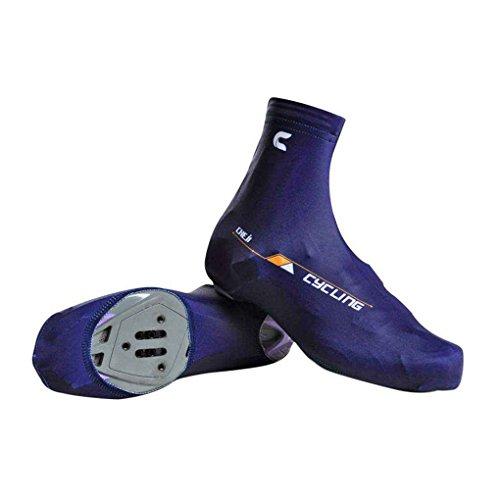 Masterein 1 par de ciclismo de ciclismo cubierta de los zapatos de bicicleta de montaña cubierta protectora de la bota caliente Azul