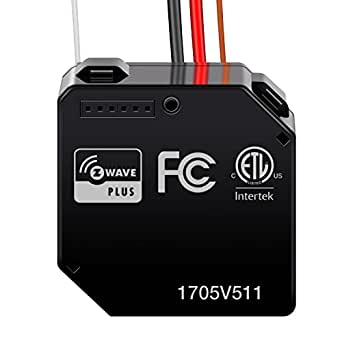 Enerwave ZWN-RSM1-PLUS Z-Wave Relay, Z-Wave Plus Micro Switch, Smart Hidden Switch Wireless Remote Control to Lights and Ceiling Fans, Neutral Wire Required, Black