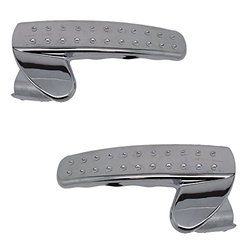Inside Door Handle Pair - Front or Rear / Left or Right - Chrome (Mpg 2007 Dodge Ram 1500)