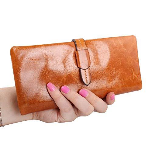 donna mano Olio 3cmx2cm Lady 18 pelle colore 5cmx9 Hand Marrone Portafoglio a Borsa cera a tracolla in Borsa RnZ70ZY