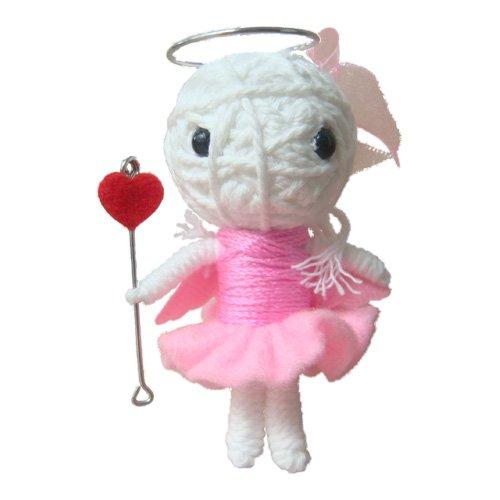 Bones Platform Sneaker (Angel Thai Voodoo String Pink Doll Keyring Keychain Handmade)