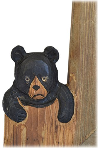 American Chateau Hand Carved Wood Baby Bear Tabletop/Wall 5'' X 7'' Photo Picture Frame by American Chateau (Image #1)