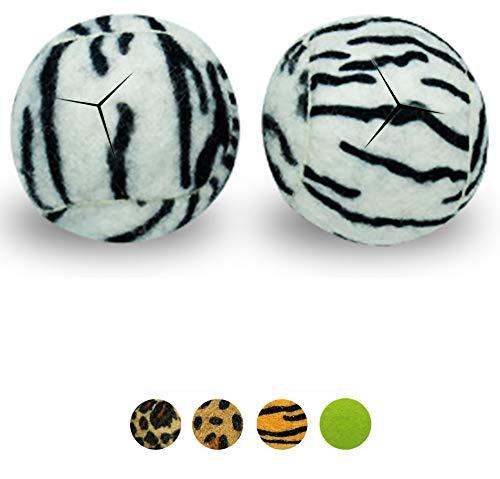 (Star Top Deluxe Pre Cut Walker Tennis Ball Glides - Walkers Legs Universal Precut Glide Balls, Accessories Gifts for Elderly Seniors or Medical Rehab (Zebra))