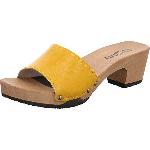 Softclox Pantolette gelb Lack