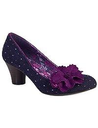 Ruby Shoo Women's Samira Purple Low Heel Pumps