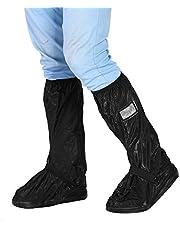 Qiilu pokrowiec na buty motocyklowe, 2 sztuki, na motocykl, skuter, rower, rower, rower, wodoszczelny, antypoślizgowy pokrowiec na deszczowe śnieżne dni
