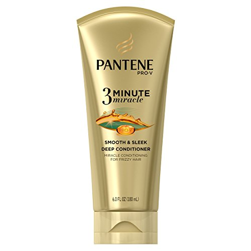 Pantene Smooth And Sleek 3 Minute Miracle Deep Conditioner  6 Fluid Ounce Packaging May Vary