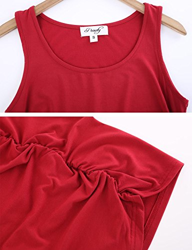 Peauty Maternity Tank Tops Bathing Suit t Shirts Shorts Pregnancy Clothes Women Plus Size 2X 3X (WineRed,XXXL) by Peauty (Image #6)