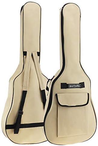 Origlam Funda para guitarra acústica de 40/41 pulgadas, funda impermeable para guitarra, mochila suave para guitarra, correa de hombro doble acolchada, tela Oxford, funda suave: Amazon.es: Instrumentos musicales