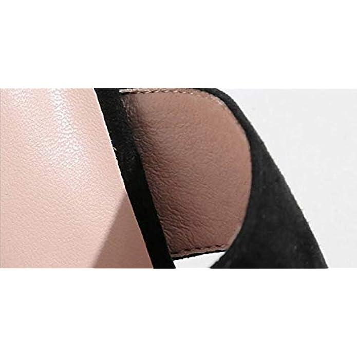 Sandali Da Donna In Pelle Summer Thick Round Head Open Toe Word Pantofole Donna European And American Fashion Tacco Alto Scarpe