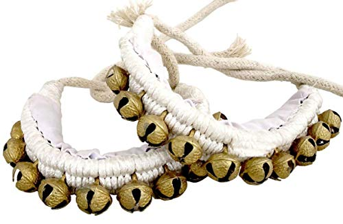 (Indian Velvet Anklet Classic Belly Dancing Ghungroo Bell Ankle Bracelet- Black 2)