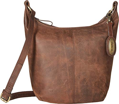 Born Womens Plymouth Distressed Bucket Hobo Chocolate One Size ()