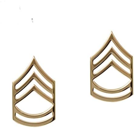 USA Army 22k Gold Plated Infantry Collar Device  1 Made in USA PAIR    NEW
