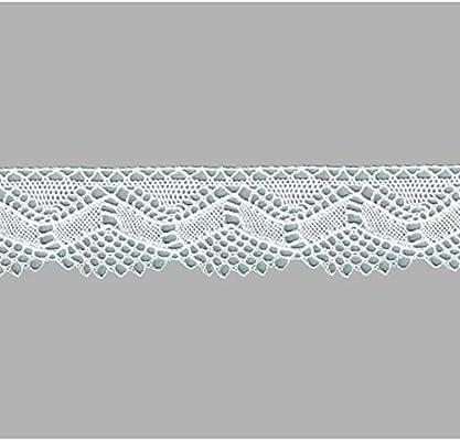 puntilla bolillo algodón 100% Encaje Blanco Encaje para Coser y Decoraciones Fiestas: Amazon.es: Hogar