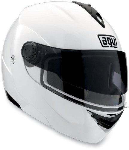 AGV Miglia 2 Modular Motorcycle Helmet (White, Large)