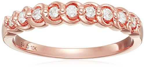 10k Yellow Gold Diamond Swirl Ring (1/6cttw, I-J Color, I2-I3 Clarity), Size 7 Yellow Gold Swirl Ring