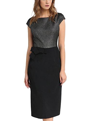 Damen APART Fashion silber Schwarz Kleid Mehrfarbig a6SqxP