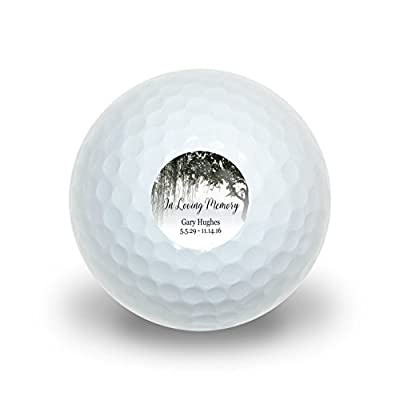 Graphics and More Personalized Custom In Loving Memory Willow Tree Memorial Novelty Golf Balls 3 Pack