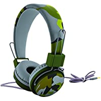 POLAROID PHP130GY Universal Camouflage HD Headphones with Mic Compatible with All Devices (Grey)