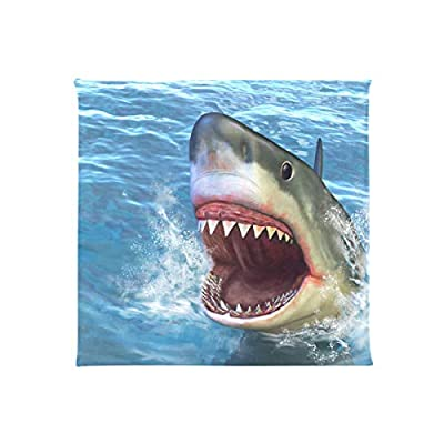 Bardic FICOO Home Patio Chair Cushion Sea Shark Square Cushion Non-Slip Memory Foam Outdoor Seat Cushion, 16x16 Inch: Home & Kitchen