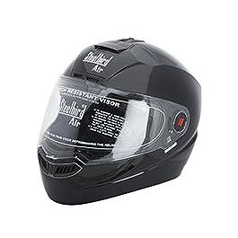 Steelbird SBA-1 Glossy Black with plain visor,580mm