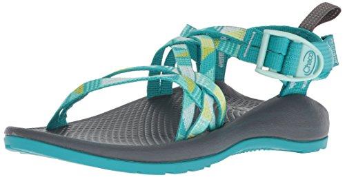 Chaco Girls' ZX1 Ecotread Sport Sandal, Puzzle Opal, 6 Medium US Big Kid (Sandals Kids Hiking)